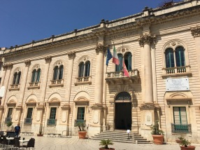 We did a short tour inside as well, and saw the office of Montalbano's boss, which is the mayor's office in real life.